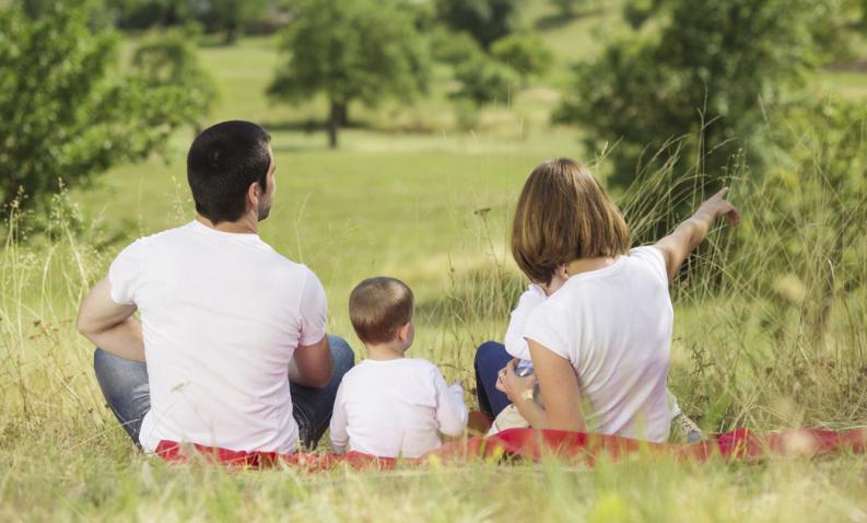 vivir con niños en el campo