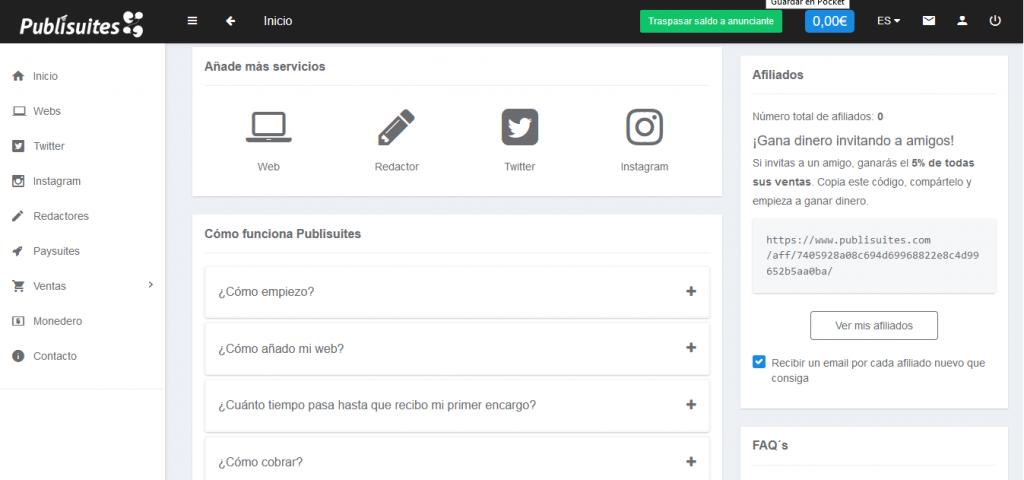 Creación de contenidos en Publisuites
