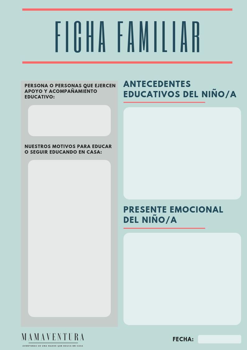 Ficha Familiar homeschooler