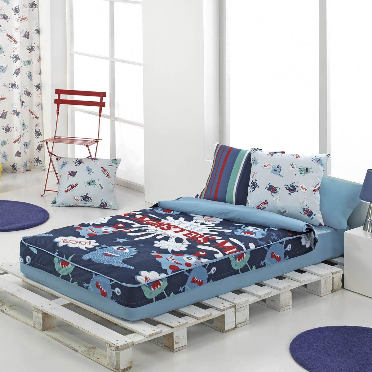 Saco nórdico para camas infantiles MONSTERS de Cañete