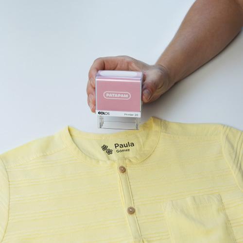 Cómo funcionan los sellos Patapam para marcar la ropa